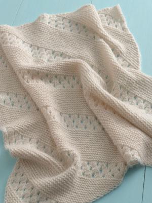 Free Knitting Pattern-Treasured Heirloom Baby Blanket | Baby Knit ...